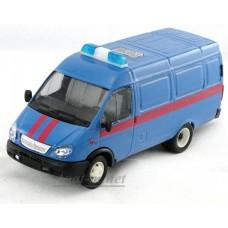 Модель фургон Судебные приставы косые фары, синий