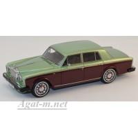 44180-НЕО Rolls Royse Silver Shadow II 1977 светло-зеленый металик/ темно-красный