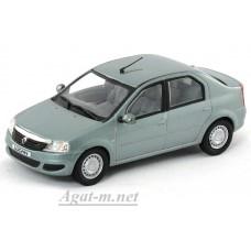 984-НОР Renault Logan 2008г. серо-голубой