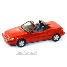 447-PRD VOLVO 480 Turbo Cabriolet 1990 Red