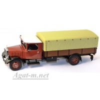 12600-PCL MB LO2750 pick up with canvas, красный