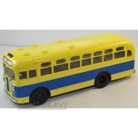 10017-АИСТ ЗИС-155 автобус, сине-желтый