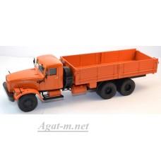 10030-АИСТ КрАЗ-257 Б1 грузовик бортовой, оранжевый