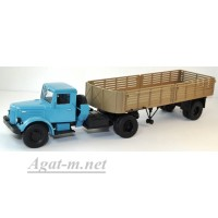10034-АИСТ МАЗ-200В седельный тягач с полуприцепом МАЗ-5215, голубой/коричневый