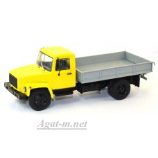 10037-АИСТ Горький-33073 (двигатель ЗМЗ-513) Грузовое такси, желтый