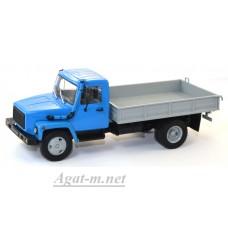 10038-1-АИСТ Горький-3309 (двигатель Д-245.7 Diesel Turbo) бортовой, синий-серый