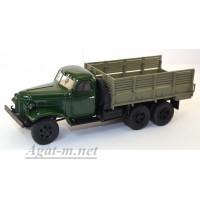10055-1-АИСТ ЗИС-151 грузовик бортовой зеленый/коричневый