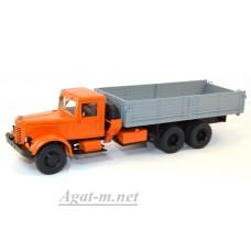 10070-АИСТ ЯАЗ-210 бортовой, оранжевый/серый