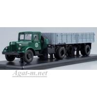 7003-ССМ МАЗ-200В с полуприцепом МАЗ-5215, зеленый/серый