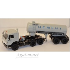 7034-ССМ Камский-54112 с полуприцепом-цементовозом ТЦ-11