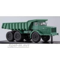 011L-ССМ МАЗ-530 карьерный самосвал (40 тонн), зеленый (металл. кабина, кузов, рама)