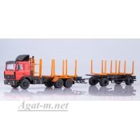 7053-ССМ МАЗ-6303 сортиментовоз с прицепом МАЗ-83781