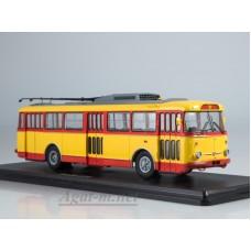 Троллейбус Skoda-9TR (красно-желтый)