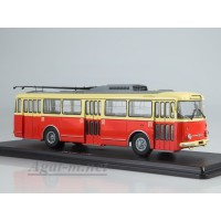 4044-ССМ Троллейбус Skoda-9TR (красно-бежевый)