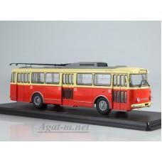 Троллейбус Skoda-9TR (красно-бежевый)