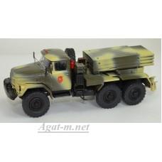 """001-СПБМ 122-мм РСЗО 9К55 """"Град-1"""" на шасси ЗИД-131, камуфляж"""