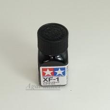 80301-ТАМ XF-1 Flat Black (Черная матовая) краска эмалевая, 10мл