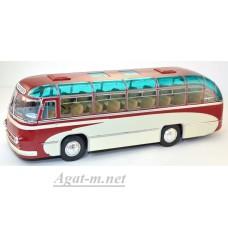"""001ВR-УЛТ ЛАЗ-695 пригородный автобус """"Опытный"""", красный/белый"""