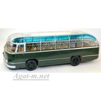 002В-УЛТ ЛАЗ-695 автобус городской, темно-зеленый/серый