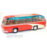 """002ВR-УЛТ ЛАЗ-695 автобус городской """"Фестивальный"""", красный"""