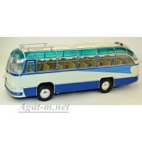 """003В-УЛТ ЛАЗ-695Б автобус туристический """"Стрела"""", синий/белый"""