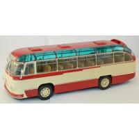 004В-УЛТ ЛАЗ-695Б автобус городской, темно-красный/бежевый
