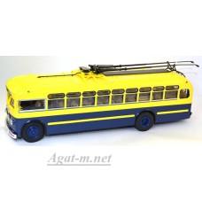 2/2А-УЛТ МТБ-82Д троллейбус (ЗИУ), желтый