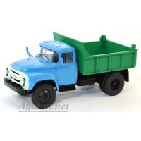 001А-УЛТ ЗИЛ-ММЗ-4502 самосвал, зеленый/голубой