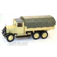 7А-УЛТ ЯГ-10Д (Я-10 НАТИ) грузовик бортовой с тентом, бежевый