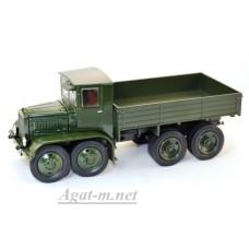 8А-УЛТ ЯГ-12 грузовик бортовой четырёхосных, зеленый