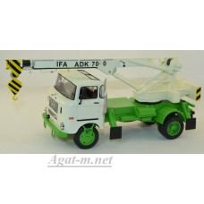 192Т-ИСТ IFA W50L автокран ADK70 1968 White and Green