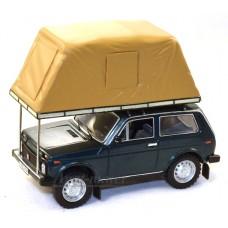 """296-ИСТ ВАЗ 2121 """"НИВА"""" с палаткой 1981г., Green"""