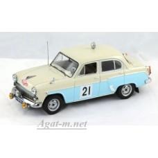 Масштабная модель Москвич 403 №21 Сучков-Щавелев Ралли Монте Карло 1964г.