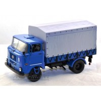 105-ВВМ IFA W50L Бортовой грузовик синий с серым тентом 1983г.