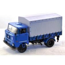 IFA W50L Бортовой грузовик синий с серым тентом 1983г.