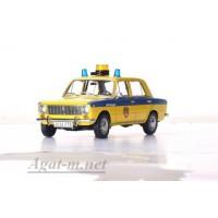 """1806-ВВМ ВАЗ-2101 """"Жигули"""" ГАИ Милиция 1982 желтый с синим"""