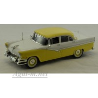 043-WB Ford Fairline sedan 4-door 1956 г. желтый / белый