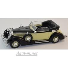 Масштабная модель Horch 853A 1938 черный/бежевый