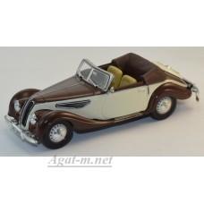 Масштабная модель BMW 327 Convertible 1939 коричневый/бежевый