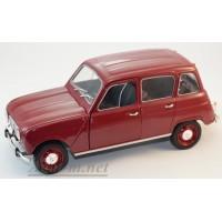 124001-WB Renault 4 1962 темно-красный