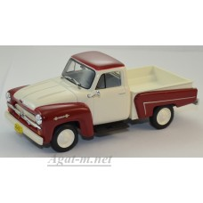093-WB Chevrolet 3100 Pick Up 1958, White/Dark Red