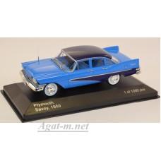 222-WB PLYMOUTH Savoy 1959 Blue/Dark Blue