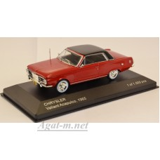 254-WB CHRYSLER Valiant Acapulco 1965 Dark Red/Black