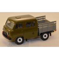 10009-3-УСР УАЗ-39094 Фермер без тента, олвковый