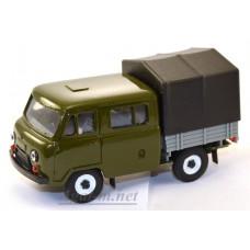 10010-1-УСР УАЗ-39094 Фермер с тентом, зеленый