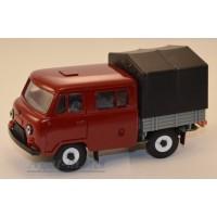 10010-5-УСР УАЗ-39094 Фермер с тентом, бордовый