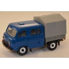 10010-6-УСР УАЗ-39094 Фермер с тентом, темно-синий