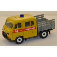 10015-1-УСР УАЗ-39094 Фермер без тента аварийная служба (таблетка), желтый