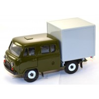 10026-УСР УАЗ-39094 Фермер с будкой, зеленый