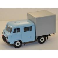 10026-3-УСР УАЗ-39094 Фермер с будкой, голубой